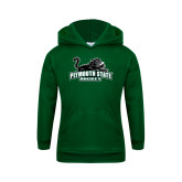 Youth Dark Green Fleece Hoodie-Hockey