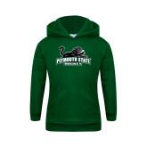 Youth Dark Green Fleece Hoodie-Hockey