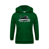 Youth Dark Green Fleece Hoodie-Track and Field