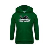 Youth Dark Green Fleece Hoodie-Track and Field