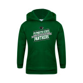 Youth Dark Green Fleece Hoodie-Hockey Banner Design