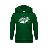 Youth Dark Green Fleece Hoodie-Hockey Banner Design