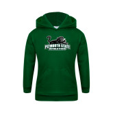 Youth Dark Green Fleece Hoodie-Primary Mark