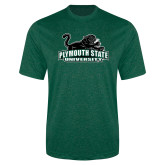 Performance Dark Green Heather Contender Tee-Secondary Mark