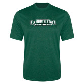 Performance Dark Green Heather Contender Tee-Plymouth State Panthers