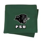 Dark Green Sweatshirt Blanket-PSU Stacked w/ Panther Head