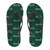 Full Color Flip Flops-PSU Stacked w/ Panther Head