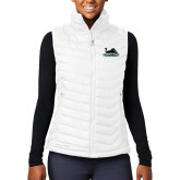 Columbia Lake 22 Ladies White Vest-Secondary Mark