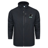 Columbia Ascender Softshell Black Jacket-PSU Stacked w/ Panther Head