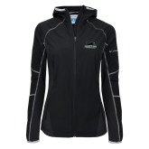Columbia Ladies Sweet As Softshell Black Jacket-Secondary Mark