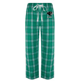 Green/White Flannel Pajama Pant-PSU Stacked w/ Panther Head