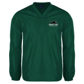 V Neck Dark Green Raglan Windshirt-Secondary Mark