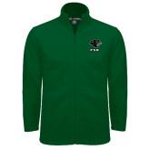 Fleece Full Zip Dark Green Jacket-PSU Stacked w/ Panther Head