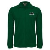Fleece Full Zip Dark Green Jacket-Primary Mark