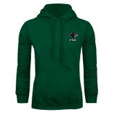 Dark Green Fleece Hood-PSU Stacked w/ Panther Head