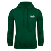 Dark Green Fleece Hood-Primary Mark