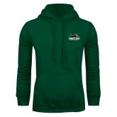 Dark Green Fleece Hood-Primary Mark