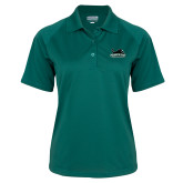 Ladies Dark Green Textured Saddle Shoulder Polo-Secondary Mark