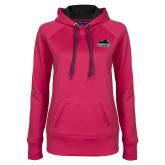 Ladies Pink Raspberry Tech Fleece Hoodie-Secondary Mark
