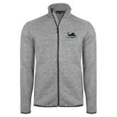 Grey Heather Fleece Jacket-Secondary Mark