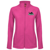 Ladies Fleece Full Zip Raspberry Jacket-Secondary Mark