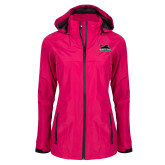 Ladies Dark Fuchsia Waterproof Jacket-Secondary Mark