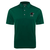 Dark Green Dry Mesh Polo-PSU Stacked w/ Panther Head