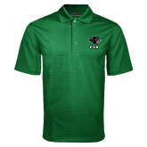 Dark Green Mini Stripe Polo-PSU Stacked w/ Panther Head