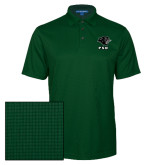 Dark Green Performance Fine Jacquard Polo-PSU Stacked w/ Panther Head