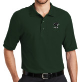 Dark Green Easycare Pique Polo-PSU Stacked w/ Panther Head