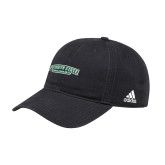 Adidas Black Slouch Unstructured Low Profile Hat-Secondary Mark