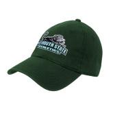 Dark Green Twill Unstructured Low Profile Hat-Primary Mark