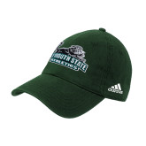 University Adidas Dark Green Slouch Unstructured Low Profile Hat-Primary Mark