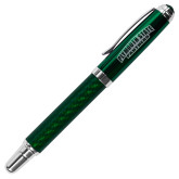 Carbon Fiber Green Rollerball Pen-Plymouth State Panthers Engraved