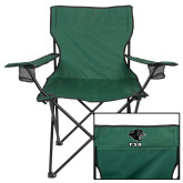 Deluxe Green Captains Chair-PSU Stacked w/ Panther Head