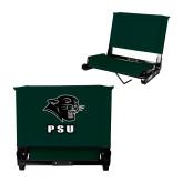 Stadium Chair Dark Green-PSU Stacked w/ Panther Head