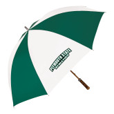 62 Inch Forest Green/White Umbrella-Plymouth State Panthers
