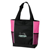 Black/Tropical Pink Panel Tote-Primary Mark