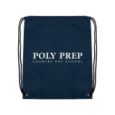 Navy Drawstring Backpack-Poly Prep Country Day School