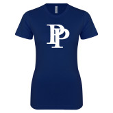 Next Level Ladies SoftStyle Junior Fitted Navy Tee-PP