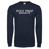 Navy Long Sleeve T Shirt-Poly Prep Brooklyn