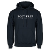 Navy Fleece Hoodie-Poly Prep Country Day School