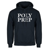 Navy Fleece Hoodie-Poly Prep Stacked