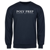 Navy Fleece Crew-Poly Prep Country Day School
