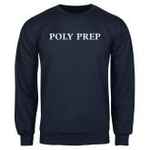 Navy Fleece Crew-Poly Prep