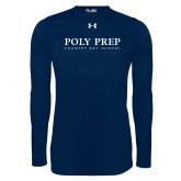 Under Armour Navy Long Sleeve Tech Tee-Poly Prep Country Day School