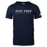 Adidas Navy Logo T Shirt-Poly Prep Country Day School