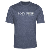 Performance Navy Heather Contender Tee-Poly Prep Country Day School