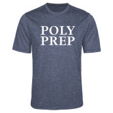 Performance Navy Heather Contender Tee-Poly Prep Stacked