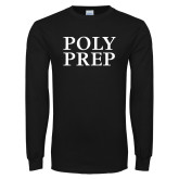 Black Long Sleeve T Shirt-Poly Prep Stacked